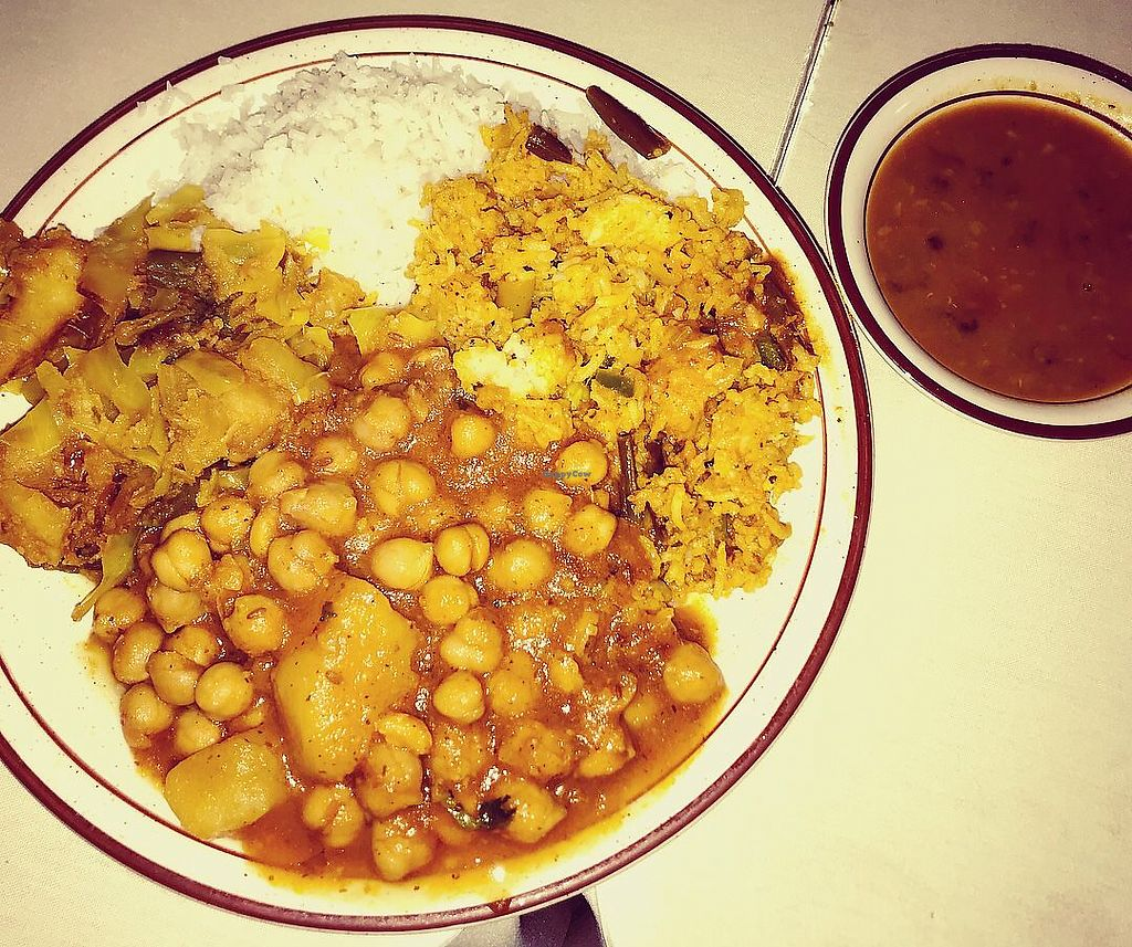 """Photo of New India  by <a href=""""/members/profile/Tabgreenvegan"""">Tabgreenvegan</a> <br/>Lunch Buffet <br/> March 28, 2018  - <a href='/contact/abuse/image/116028/377401'>Report</a>"""