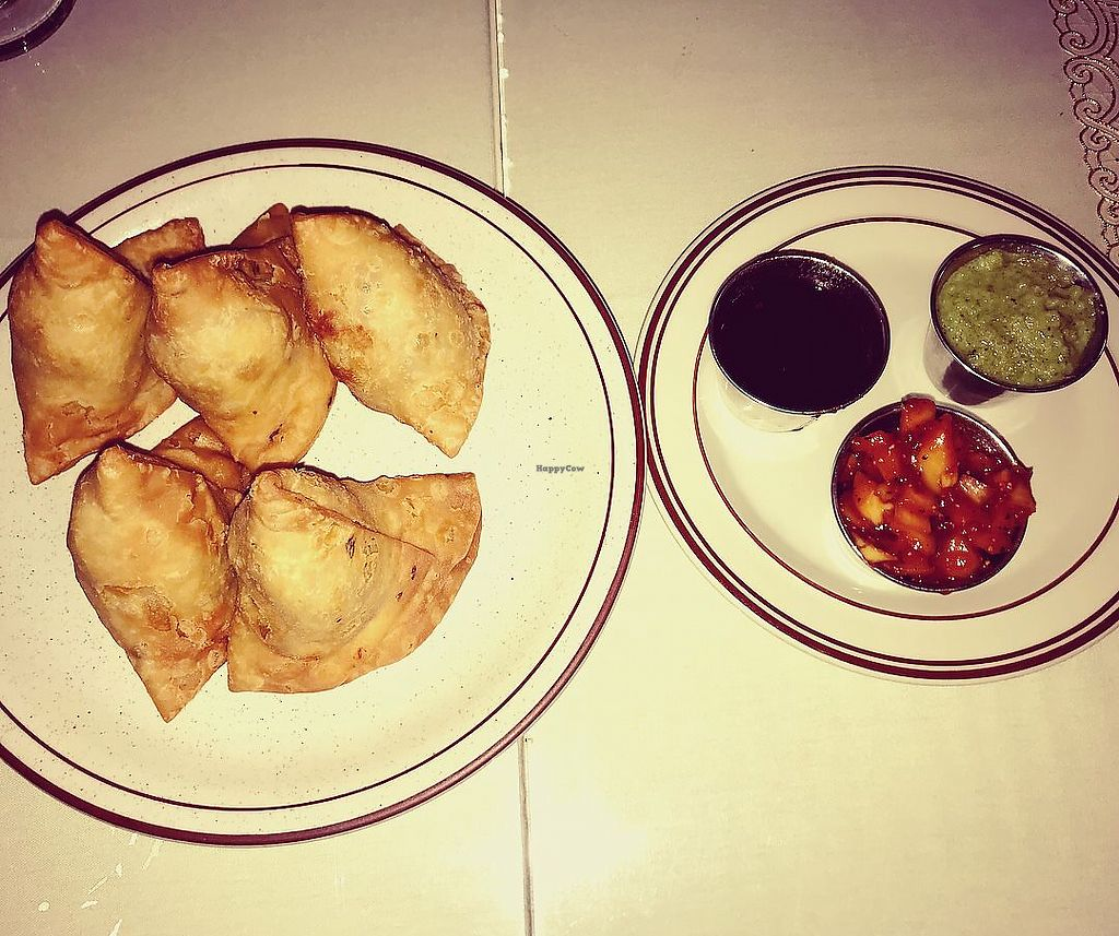 """Photo of New India  by <a href=""""/members/profile/Tabgreenvegan"""">Tabgreenvegan</a> <br/>Vegetable Samosas! <br/> March 28, 2018  - <a href='/contact/abuse/image/116028/377402'>Report</a>"""