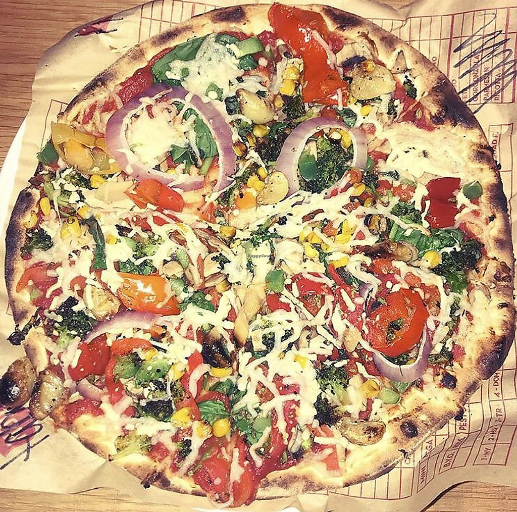 """Photo of Mod Pizza  by <a href=""""/members/profile/Tabgreenvegan"""">Tabgreenvegan</a> <br/>Vegan Pizza <br/> March 28, 2018  - <a href='/contact/abuse/image/116033/377449'>Report</a>"""