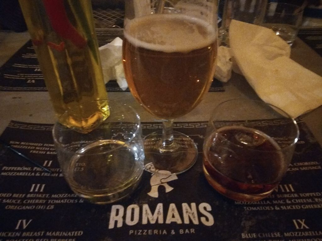 "Photo of Romans Pizzeria  by <a href=""/members/profile/TrixieFirecracker"">TrixieFirecracker</a> <br/>Drinks <br/> March 28, 2018  - <a href='/contact/abuse/image/116038/377491'>Report</a>"