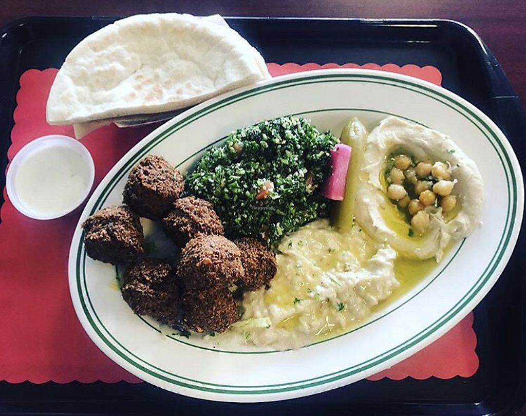 "Photo of Pita House  by <a href=""/members/profile/Tabgreenvegan"">Tabgreenvegan</a> <br/>Falafel Platter  <br/> March 29, 2018  - <a href='/contact/abuse/image/116049/377729'>Report</a>"