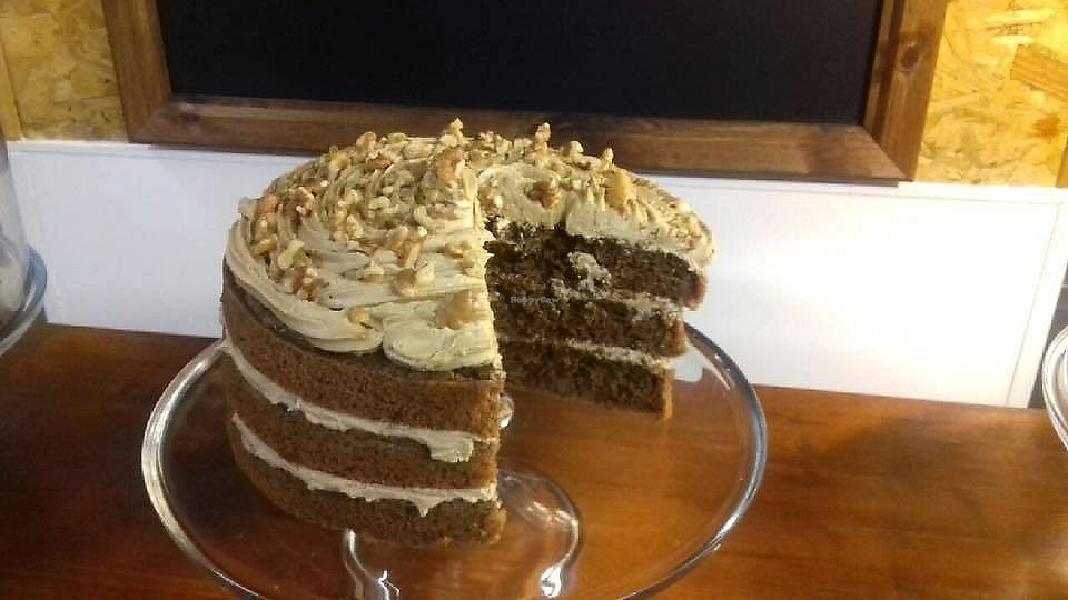 "Photo of The Green Guerrilla Deli  by <a href=""/members/profile/Veggie%20on%20the%20go"">Veggie on the go</a> <br/>Vegan Coffee & Walnut Cake <br/> March 29, 2018  - <a href='/contact/abuse/image/116050/377650'>Report</a>"