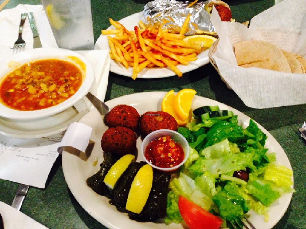 """Photo of International Delights Cafe  by <a href=""""/members/profile/Labylala"""">Labylala</a> <br/>vegan selections <br/> December 28, 2014  - <a href='/contact/abuse/image/11612/88886'>Report</a>"""