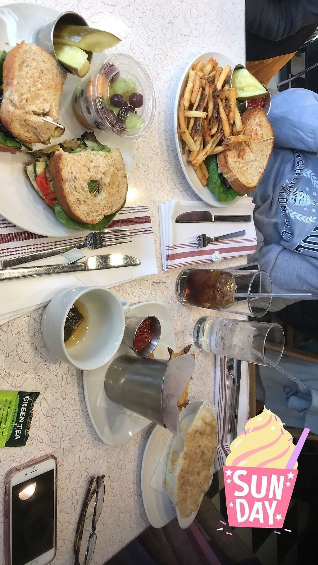 "Photo of Food 101  by <a href=""/members/profile/20daisy00"">20daisy00</a> <br/>Vegan version of vegetable powerhouse sandwich (on left) and green tea <br/> March 30, 2018  - <a href='/contact/abuse/image/116157/378178'>Report</a>"