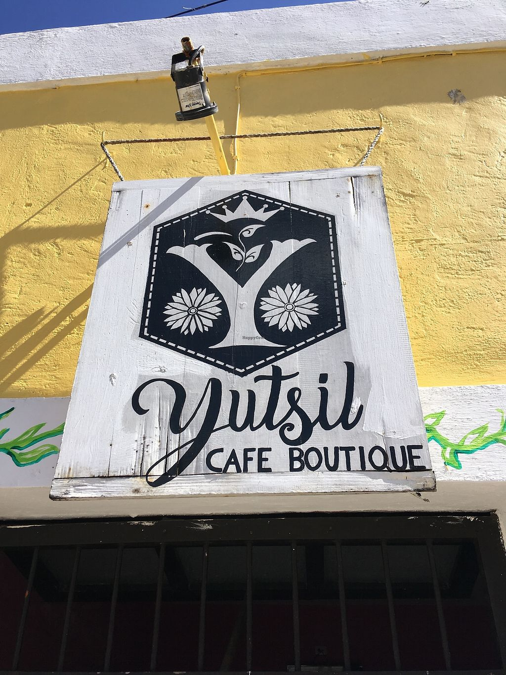 """Photo of Yutsil Cafe Boutique  by <a href=""""/members/profile/Hellavegan"""">Hellavegan</a> <br/>Streetsign <br/> March 31, 2018  - <a href='/contact/abuse/image/116163/379093'>Report</a>"""