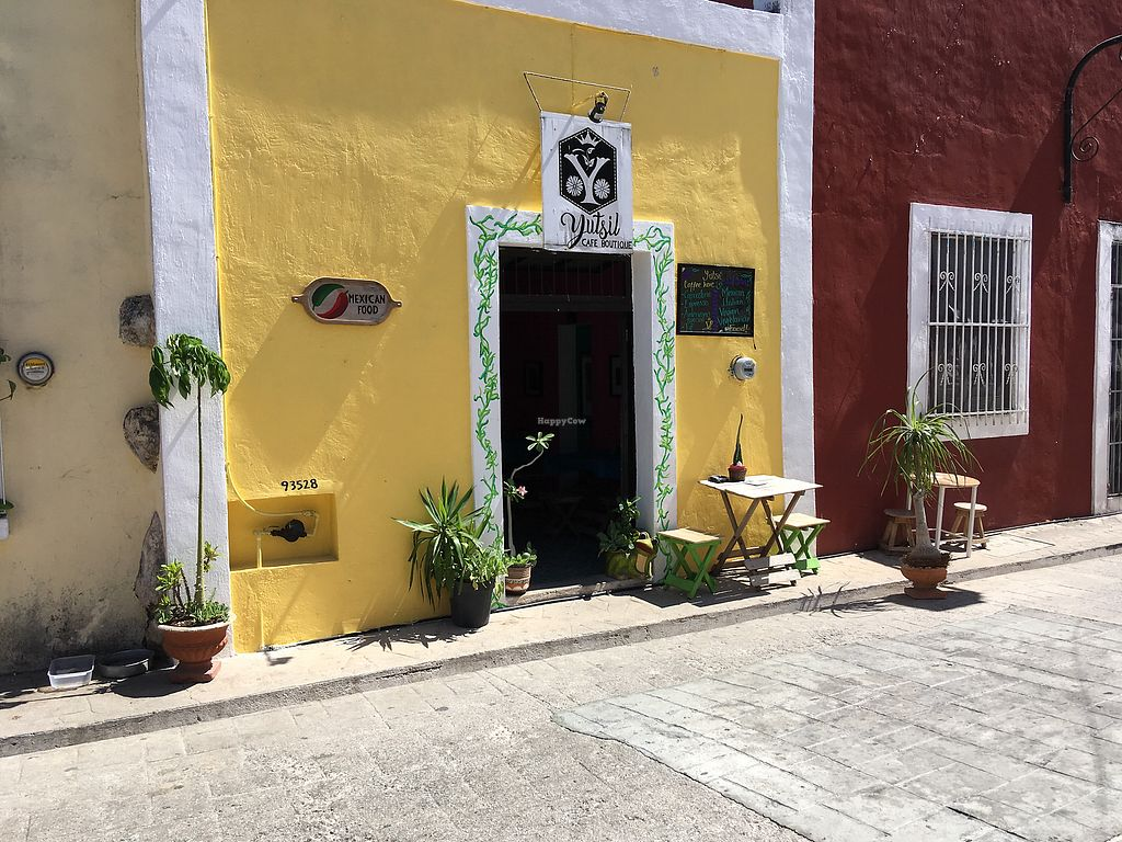 """Photo of Yutsil Cafe Boutique  by <a href=""""/members/profile/Hellavegan"""">Hellavegan</a> <br/>Outside the resturant <br/> March 31, 2018  - <a href='/contact/abuse/image/116163/379099'>Report</a>"""