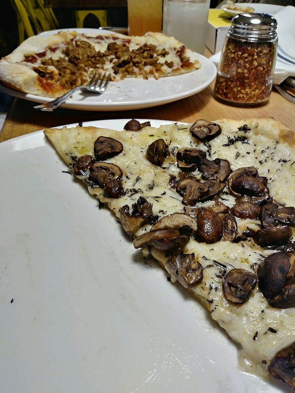 """Photo of Hugo's Pizza  by <a href=""""/members/profile/NynaA"""">NynaA</a> <br/>Vegan pizza! <br/> April 8, 2018  - <a href='/contact/abuse/image/116172/382500'>Report</a>"""