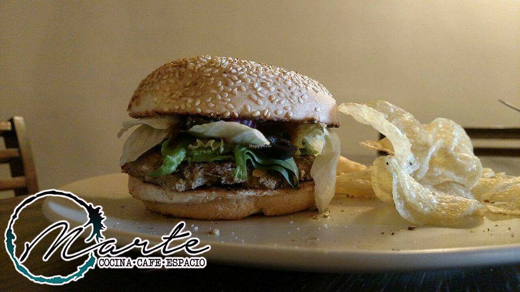 "Photo of MARTE Cocina Cafe Espacio  by <a href=""/members/profile/H1R4M"">H1R4M</a> <br/>Vegan burger <br/> April 8, 2018  - <a href='/contact/abuse/image/116183/382260'>Report</a>"