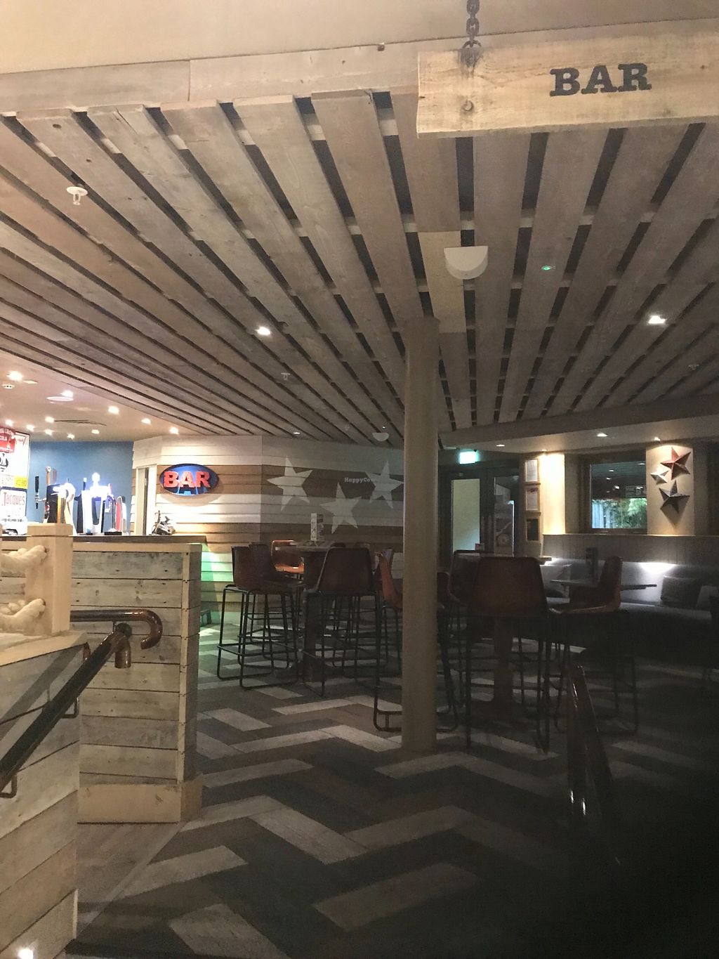 "Photo of Huck's  by <a href=""/members/profile/20daisy00"">20daisy00</a> <br/>Seating area near to the bar <br/> March 29, 2018  - <a href='/contact/abuse/image/116184/377947'>Report</a>"