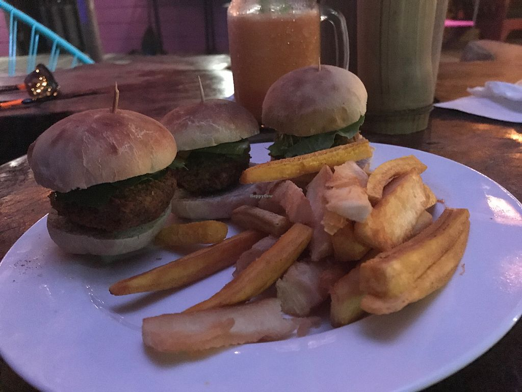 """Photo of La Buguita  by <a href=""""/members/profile/GaryBartlett"""">GaryBartlett</a> <br/>Mini Veggie burgers (be sure to ask for no tzatziki) & they have a good in-house spice sauce  <br/> March 31, 2018  - <a href='/contact/abuse/image/116214/378526'>Report</a>"""