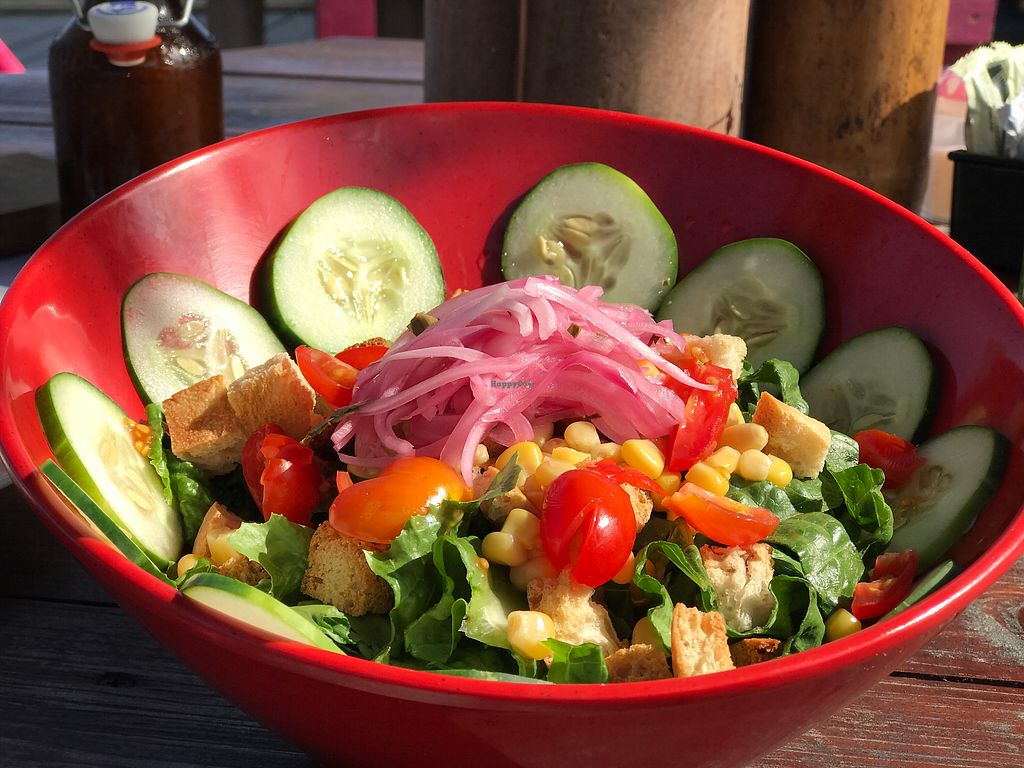 """Photo of La Buguita  by <a href=""""/members/profile/GaryBartlett"""">GaryBartlett</a> <br/>Salad, decent & looks nice, but not so exceptional for taste  <br/> March 31, 2018  - <a href='/contact/abuse/image/116214/378532'>Report</a>"""