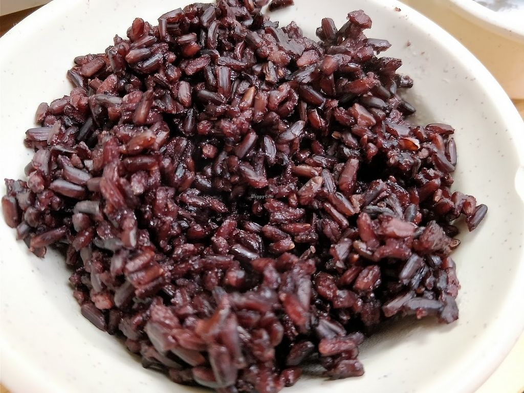 """Photo of Yuan Lai Organic Veg Mini Hot Pot  by <a href=""""/members/profile/JimmySeah"""">JimmySeah</a> <br/>dark Purple organic  rice  <br/> March 31, 2018  - <a href='/contact/abuse/image/116218/378768'>Report</a>"""