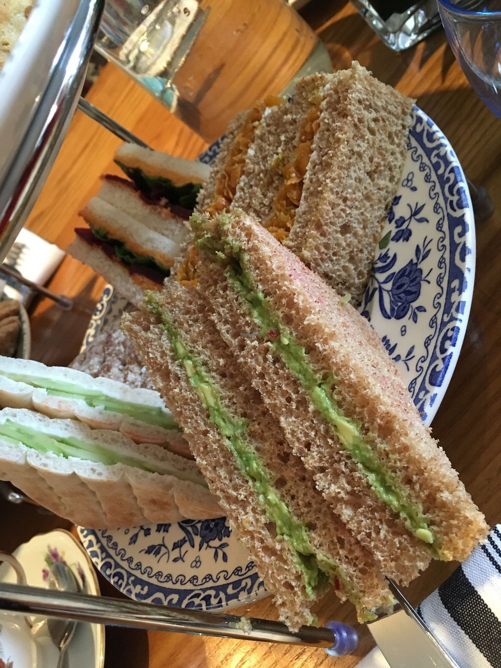 """Photo of 60 Hope Street  by <a href=""""/members/profile/avocado_jess"""">avocado_jess</a> <br/>Vegan sandwiches. Flavours: avocado; cucumber; mushroom pate; smokey houmous with beetroot and rocket; caramelised carrot chutney.  <br/> March 30, 2018  - <a href='/contact/abuse/image/116231/378174'>Report</a>"""