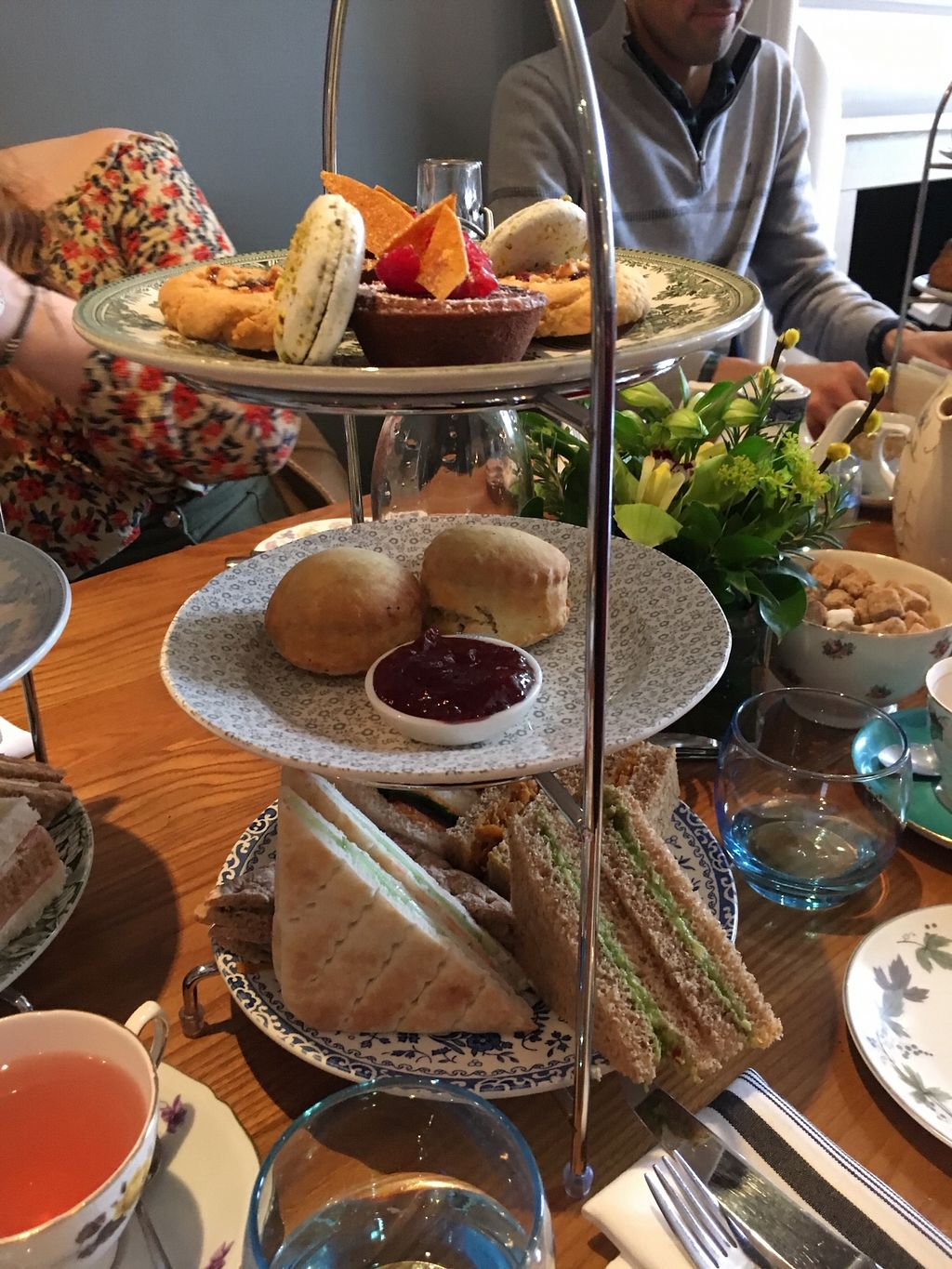 """Photo of 60 Hope Street  by <a href=""""/members/profile/avocado_jess"""">avocado_jess</a> <br/>Vegan afternoon tea in full (for two people) <br/> March 30, 2018  - <a href='/contact/abuse/image/116231/378176'>Report</a>"""