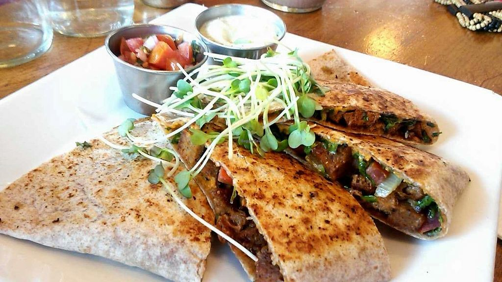 "Photo of Flore  by <a href=""/members/profile/LiilyPadd"">LiilyPadd</a> <br/>Southwestern seitan quesadilla (personal favorite) <br/> April 29, 2015  - <a href='/contact/abuse/image/11631/100689'>Report</a>"