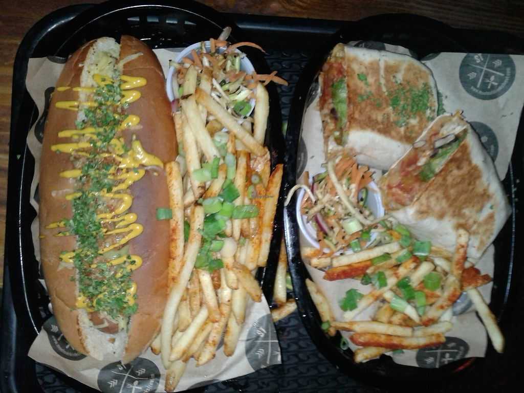 """Photo of Street  by <a href=""""/members/profile/Ian.Hartas"""">Ian.Hartas</a> <br/>Yes, these are from their vegan menu <br/> April 1, 2018  - <a href='/contact/abuse/image/116354/379336'>Report</a>"""