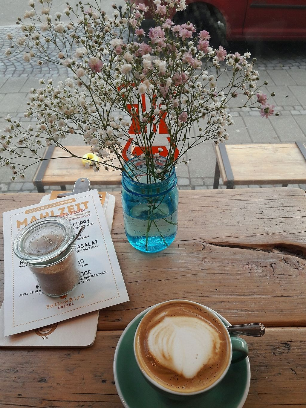 """Photo of YellowBird Coffee  by <a href=""""/members/profile/Scarify"""">Scarify</a> <br/>flatwhite with soymilk <br/> April 1, 2018  - <a href='/contact/abuse/image/116365/379328'>Report</a>"""
