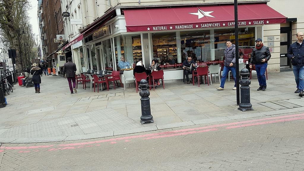 "Photo of Pret A Manger - Brompton Rd  by <a href=""/members/profile/jollypig"">jollypig</a> <br/>Outside <br/> April 13, 2018  - <a href='/contact/abuse/image/116419/385026'>Report</a>"