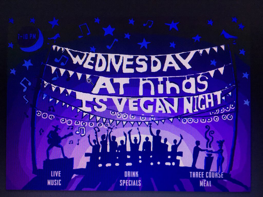 "Photo of Nina's Real Food  by <a href=""/members/profile/NikitaLeys"">NikitaLeys</a> <br/>EVERY WEDNESDAY IS VEGAN NIGHT AT NINAS!!!!  <br/> April 15, 2018  - <a href='/contact/abuse/image/116433/386338'>Report</a>"