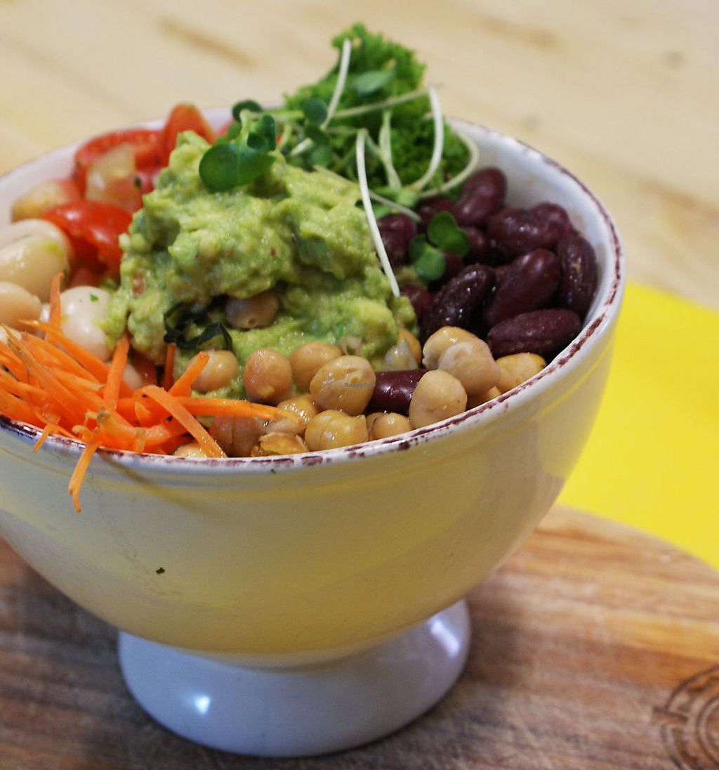 """Photo of Infood Coffee Society  by <a href=""""/members/profile/community5"""">community5</a> <br/>Bean, avocado & salsa bowl <br/> April 5, 2018  - <a href='/contact/abuse/image/116435/381351'>Report</a>"""