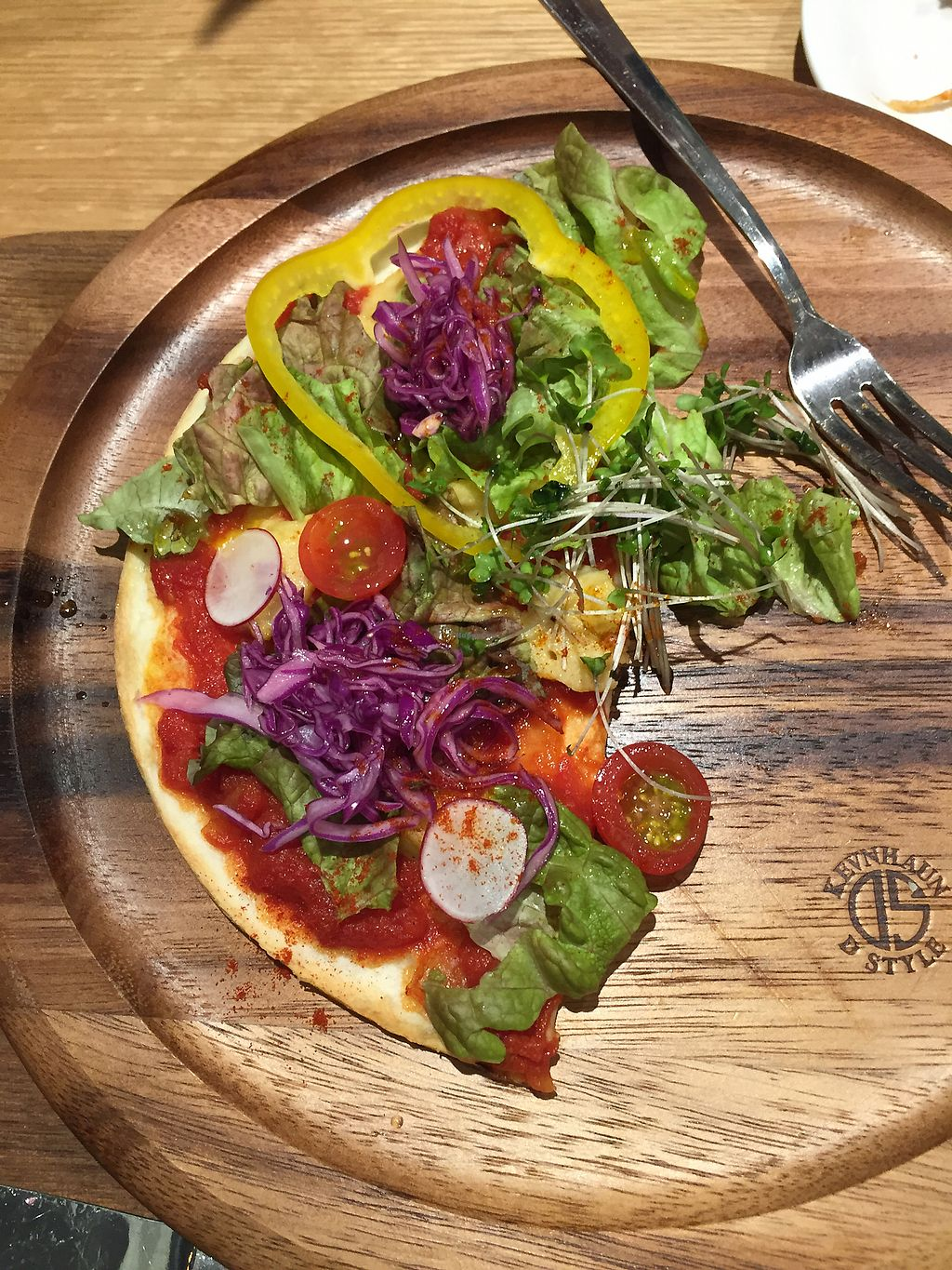 """Photo of Aasics Connection  by <a href=""""/members/profile/Jkcook"""">Jkcook</a> <br/>Vegan Pizza—delicious, especially the sauce <br/> April 6, 2018  - <a href='/contact/abuse/image/116436/381551'>Report</a>"""