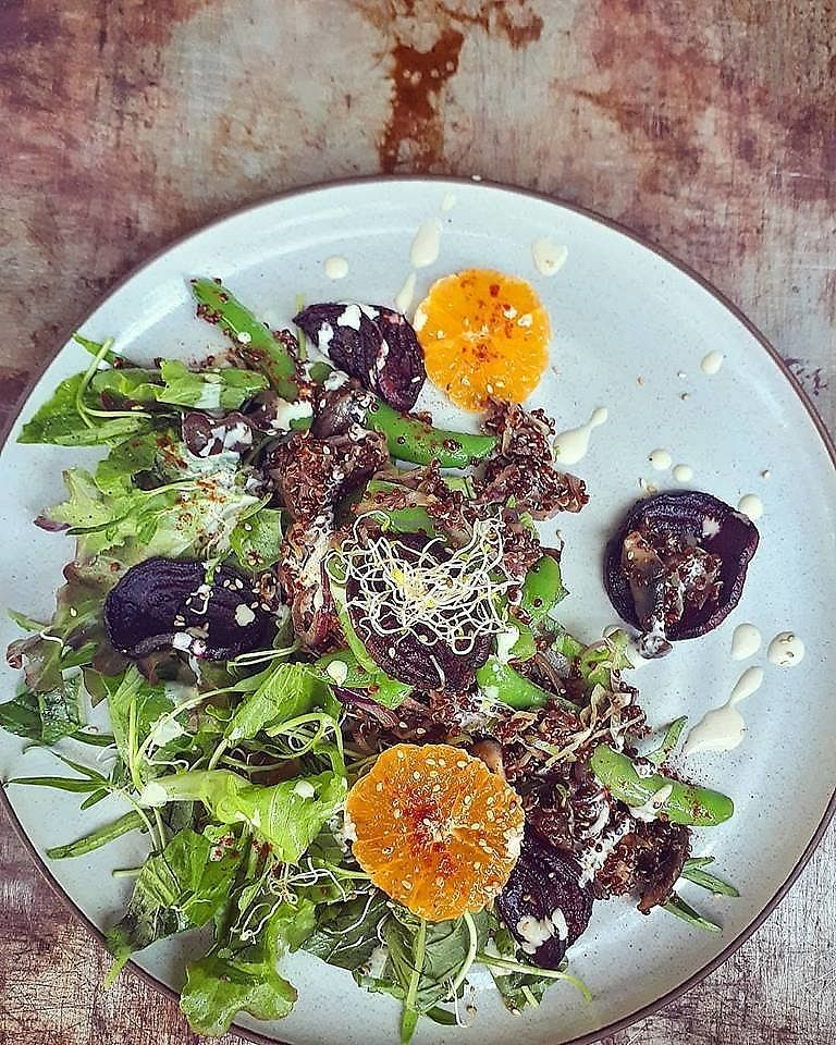 """Photo of Lemonade Club  by <a href=""""/members/profile/community5"""">community5</a> <br/>Warm quinoa & mushrooms salad with citrus <br/> April 6, 2018  - <a href='/contact/abuse/image/116442/381696'>Report</a>"""