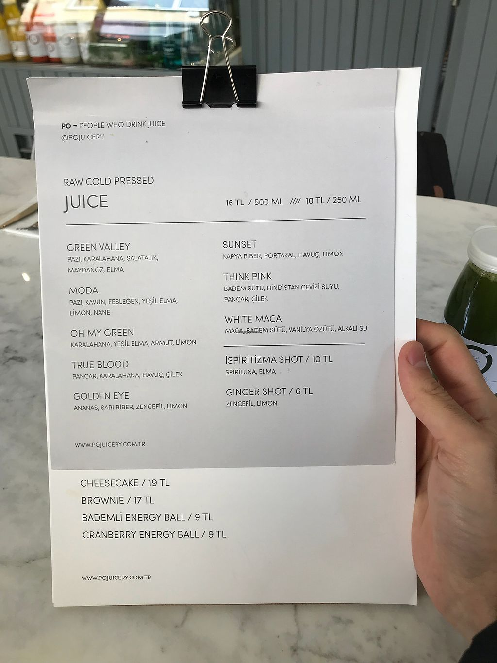 "Photo of PO Juicery  by <a href=""/members/profile/veganoteacher"">veganoteacher</a> <br/>Juice Menu <br/> April 7, 2018  - <a href='/contact/abuse/image/116447/381812'>Report</a>"