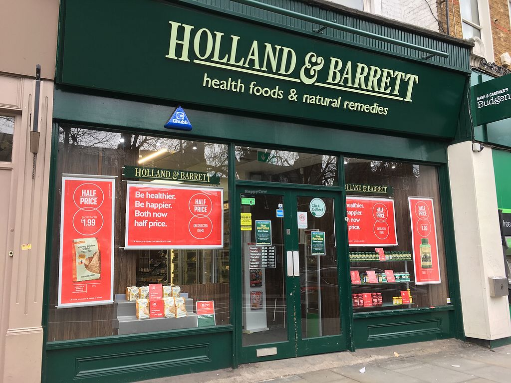 """Photo of Holland & Barrett - 212 Upper St  by <a href=""""/members/profile/hack_man"""">hack_man</a> <br/>Exterior  <br/> April 2, 2018  - <a href='/contact/abuse/image/116456/379625'>Report</a>"""