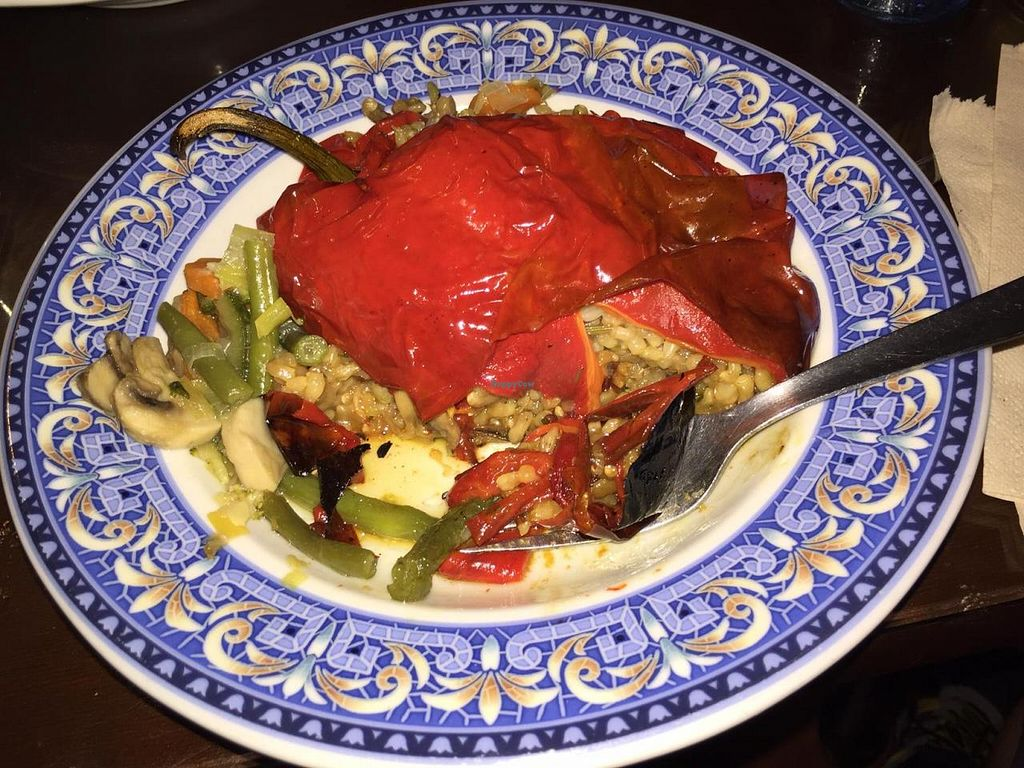 """Photo of La Lluna  by <a href=""""/members/profile/monmart"""">monmart</a> <br/>Rice stuffed red pepper. Was good! <br/> October 20, 2014  - <a href='/contact/abuse/image/1164/83496'>Report</a>"""