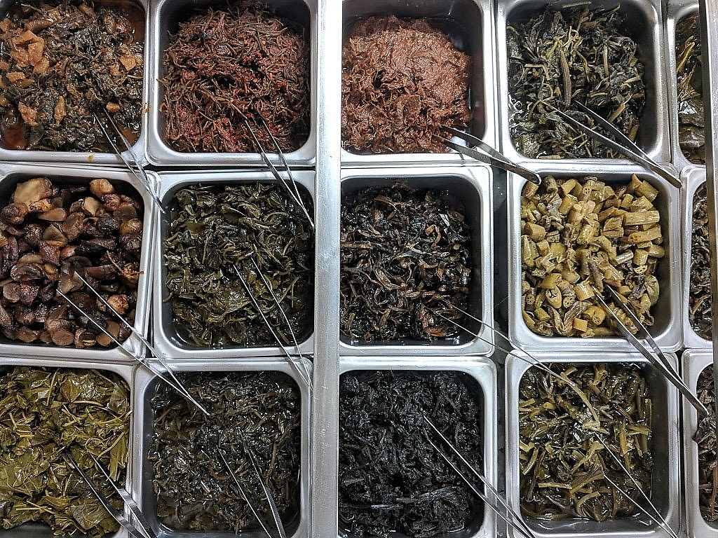 """Photo of Slow City Herbalism  by <a href=""""/members/profile/nwiten"""">nwiten</a> <br/>some of the food choices <br/> April 8, 2018  - <a href='/contact/abuse/image/116502/382539'>Report</a>"""