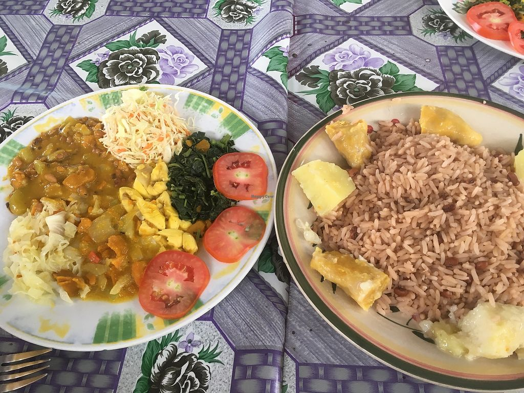 """Photo of Survival Beach Restaurant  by <a href=""""/members/profile/Stubler"""">Stubler</a> <br/>The day's vegan offering <br/> April 6, 2018  - <a href='/contact/abuse/image/116514/381601'>Report</a>"""