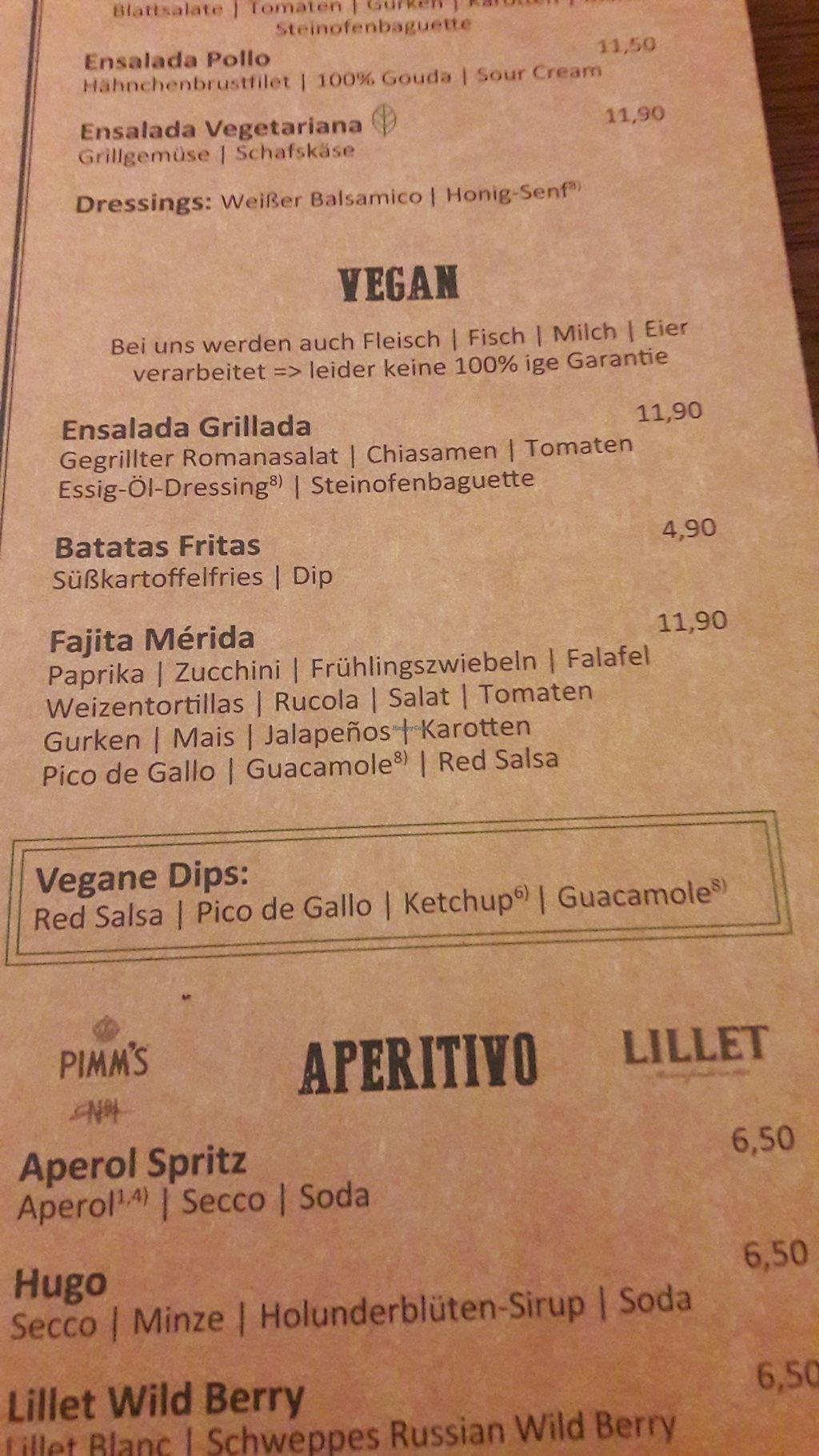 "Photo of Enchilada  by <a href=""/members/profile/Scarify"">Scarify</a> <br/>vegan menu <br/> April 3, 2018  - <a href='/contact/abuse/image/116537/380026'>Report</a>"