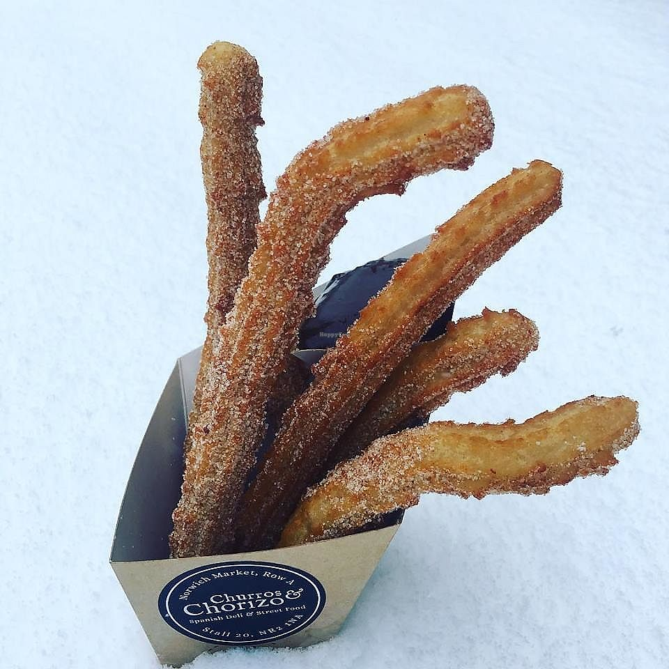 """Photo of Churros & Chorizo  by <a href=""""/members/profile/community5"""">community5</a> <br/>Vegan churros <br/> April 2, 2018  - <a href='/contact/abuse/image/116546/380008'>Report</a>"""