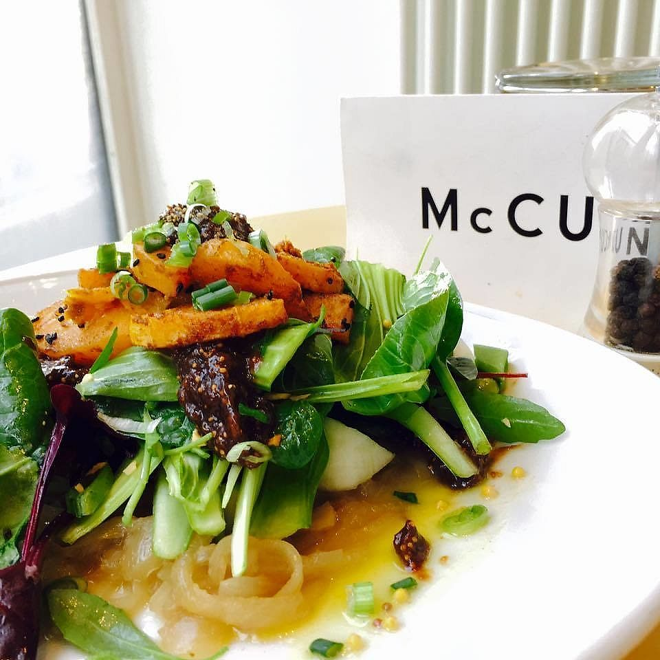 "Photo of McCune Smith Cafe  by <a href=""/members/profile/community5"">community5</a> <br/>Caramelised onion, spiced roast squash and balsamic fig salad <br/> April 12, 2018  - <a href='/contact/abuse/image/116563/384718'>Report</a>"