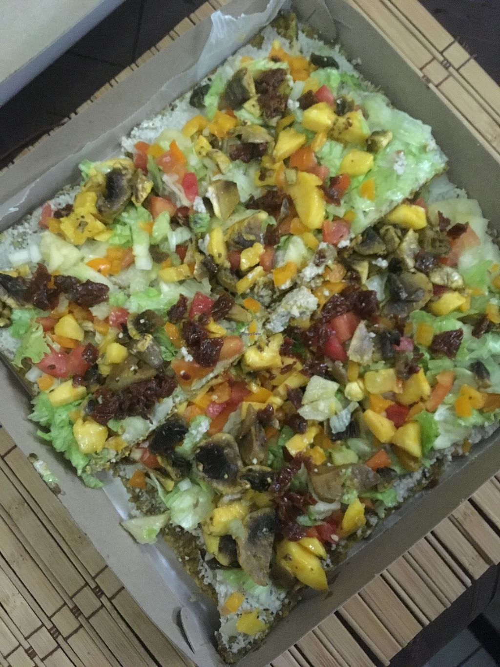 "Photo of Mi Hungry  by <a href=""/members/profile/Stubler"">Stubler</a> <br/>Raw, Vegan, Ital Pizza <br/> April 6, 2018  - <a href='/contact/abuse/image/116570/381599'>Report</a>"