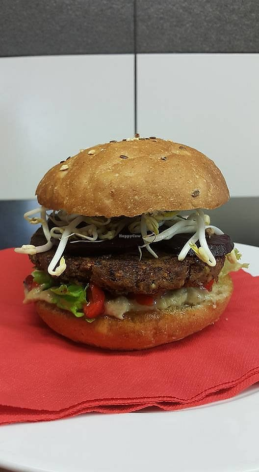 """Photo of Kavarna Tiskarna  by <a href=""""/members/profile/community5"""">community5</a> <br/>Vegan burger <br/> April 13, 2018  - <a href='/contact/abuse/image/116729/385416'>Report</a>"""