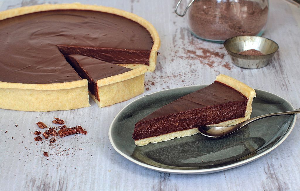 """Photo of Bombay Express  by <a href=""""/members/profile/RehanUddin"""">RehanUddin</a> <br/>Vegan Deluxe Dessert - Coconut Chocolate Tart <br/> April 18, 2018  - <a href='/contact/abuse/image/116747/387603'>Report</a>"""