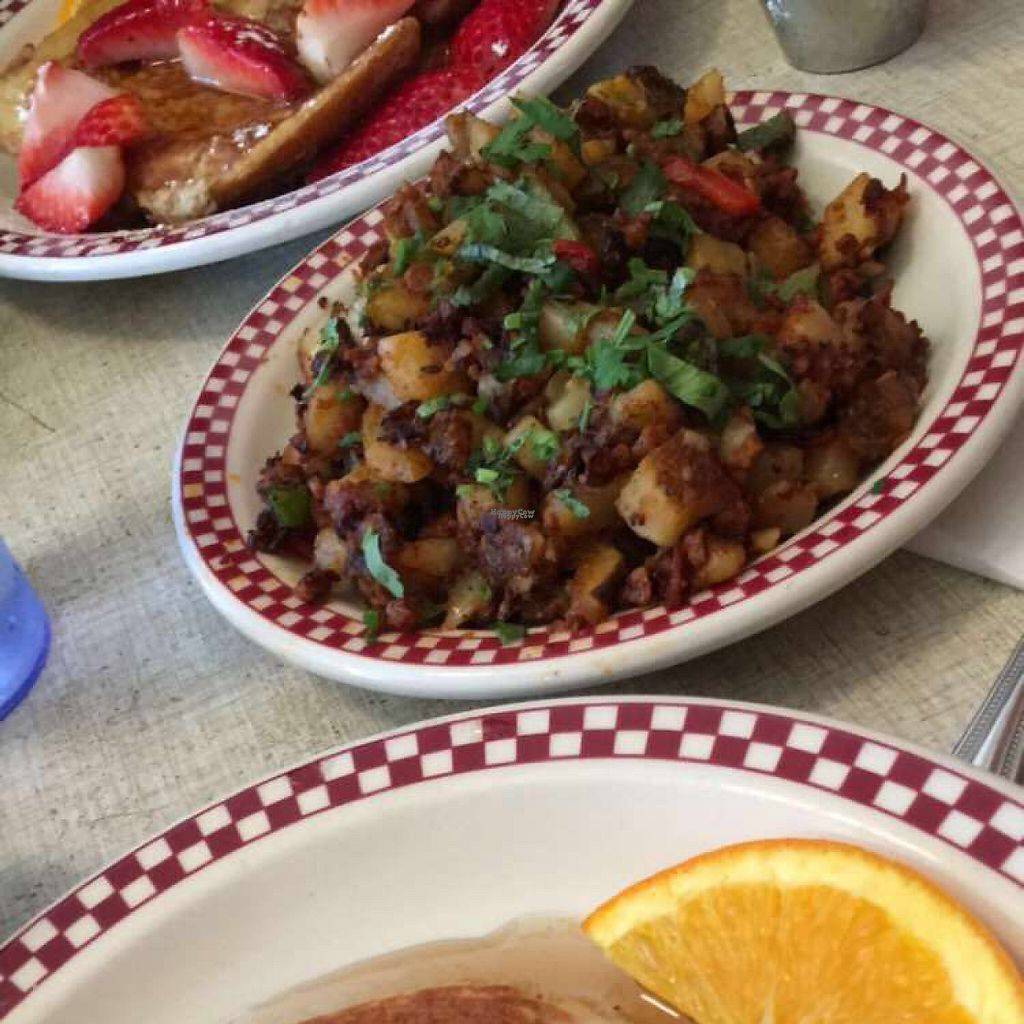 """Photo of St Francis Fountain and Candy  by <a href=""""/members/profile/SavannahNordeen"""">SavannahNordeen</a> <br/>vegan chorizo hash  <br/> March 2, 2017  - <a href='/contact/abuse/image/11674/231923'>Report</a>"""