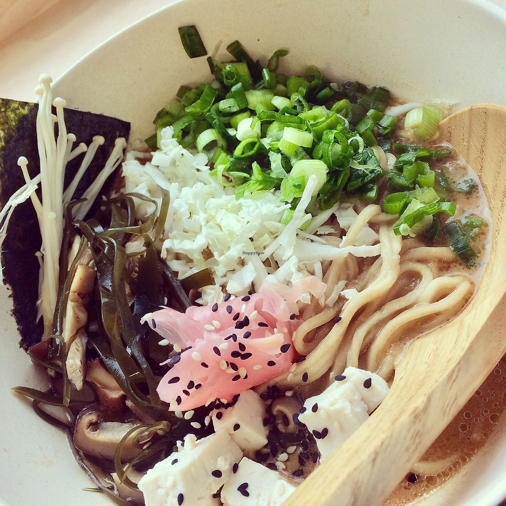"""Photo of Bia Rebel Ramen  by <a href=""""/members/profile/CiaraSlevin"""">CiaraSlevin</a> <br/>Miso Ramen Bowl (Vegan) <br/> April 10, 2018  - <a href='/contact/abuse/image/116760/383528'>Report</a>"""