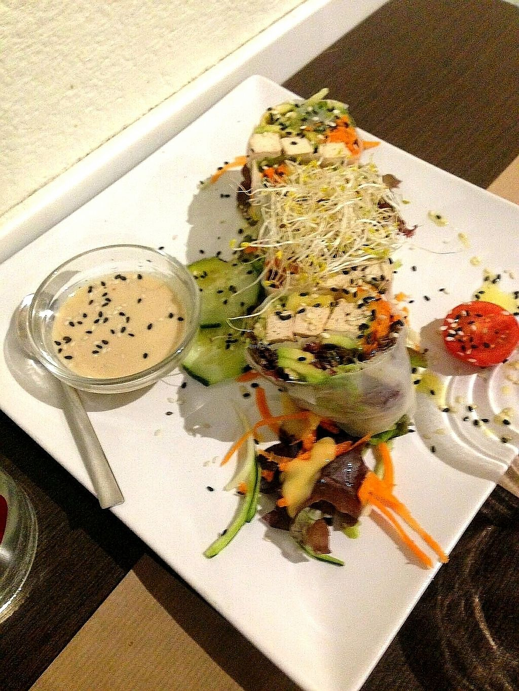 """Photo of La Tastaolletes  by <a href=""""/members/profile/wyrd"""">wyrd</a> <br/>veggie rolls with tofu and peanut sauce <br/> October 15, 2017  - <a href='/contact/abuse/image/11681/315521'>Report</a>"""