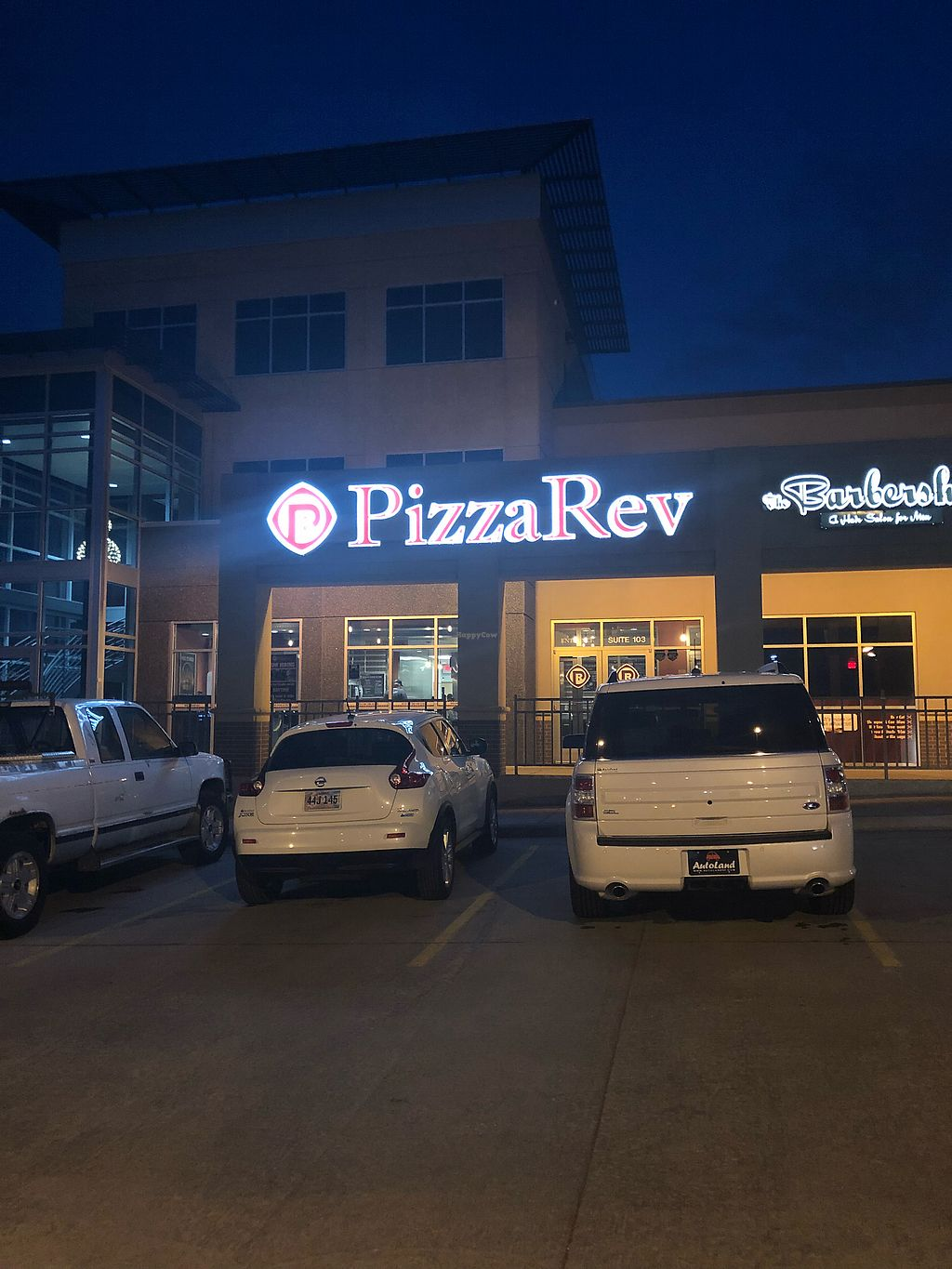 """Photo of PizzaRev  by <a href=""""/members/profile/Jadediana"""">Jadediana</a> <br/>Pizza Rev Front Building Location  <br/> April 14, 2018  - <a href='/contact/abuse/image/116840/385512'>Report</a>"""