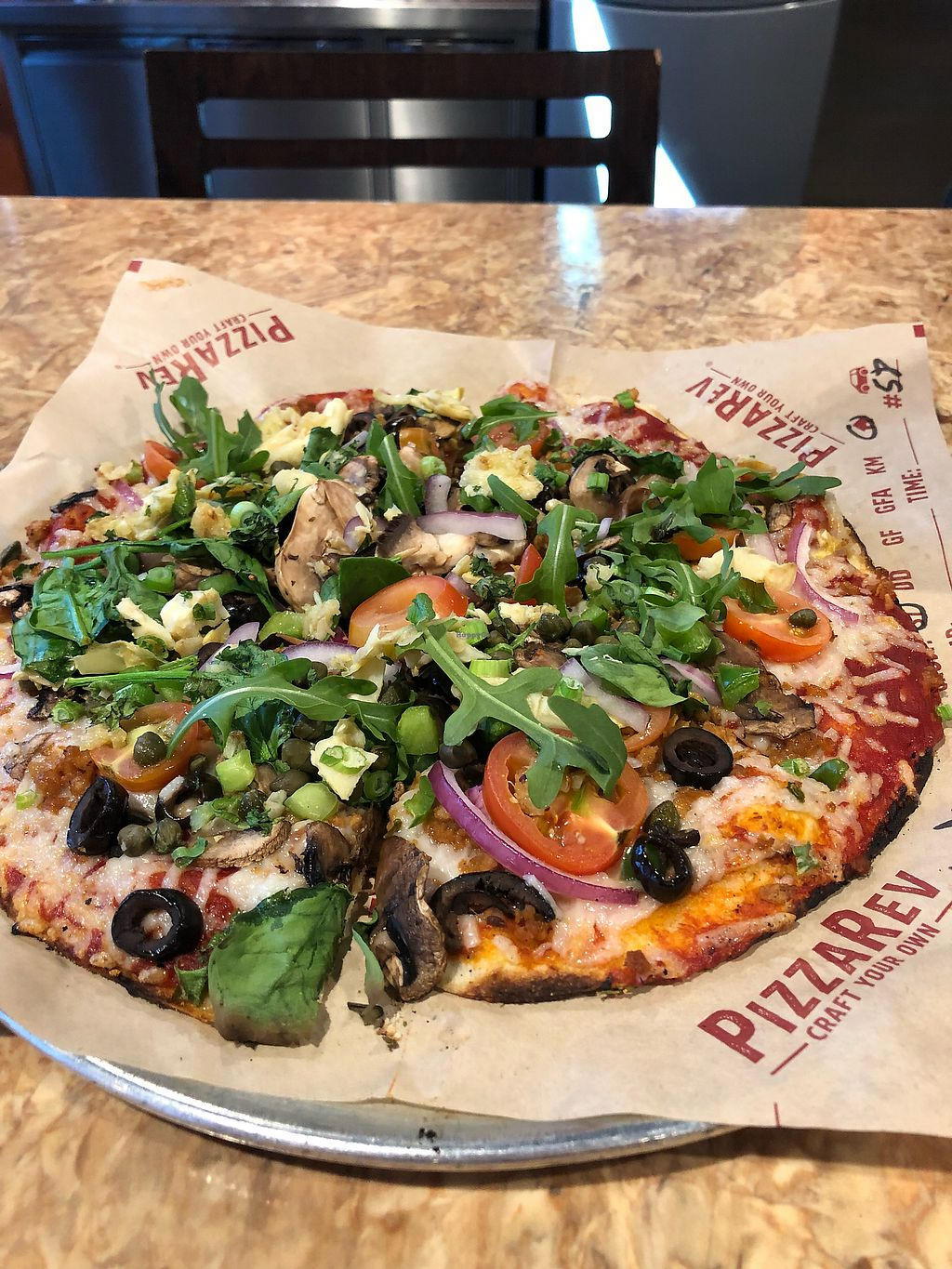 """Photo of PizzaRev  by <a href=""""/members/profile/Jadediana"""">Jadediana</a> <br/>Vegan pizza ❤️ <br/> April 14, 2018  - <a href='/contact/abuse/image/116840/385514'>Report</a>"""