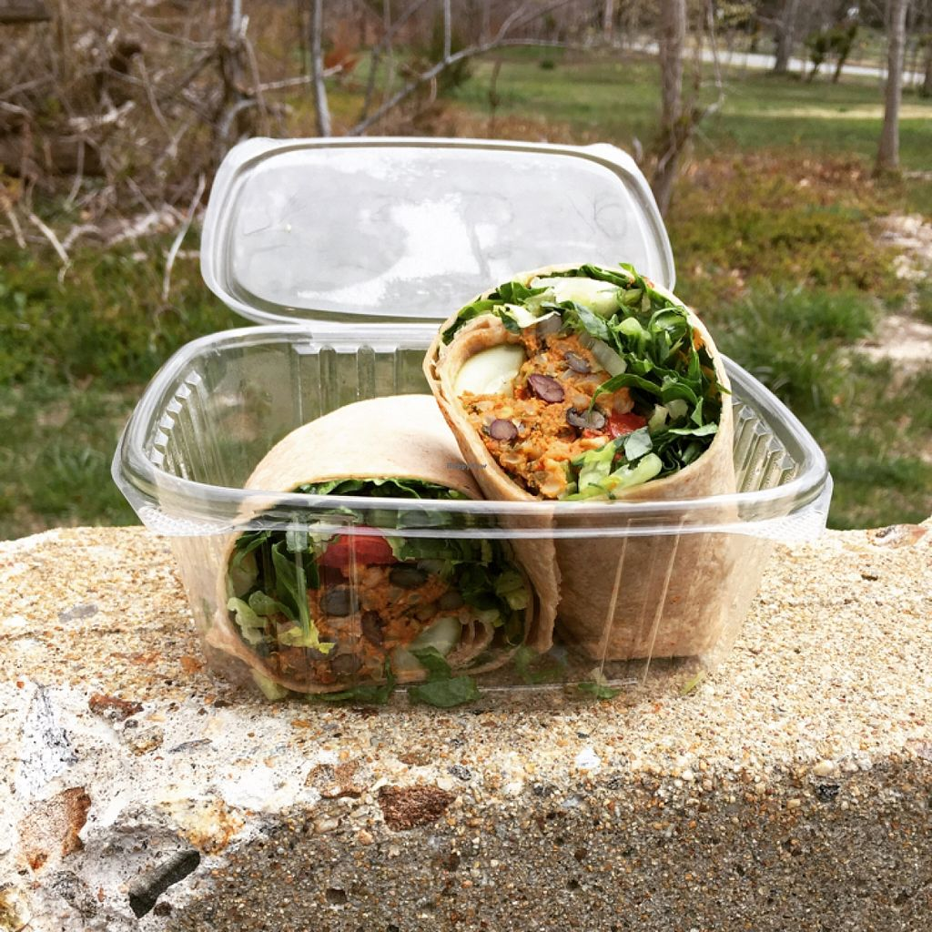 "Photo of 141 Bradford Natural Market  by <a href=""/members/profile/vegancableguy"">vegancableguy</a> <br/>yummy black bean burger wrap!! <br/> April 19, 2016  - <a href='/contact/abuse/image/11687/145252'>Report</a>"