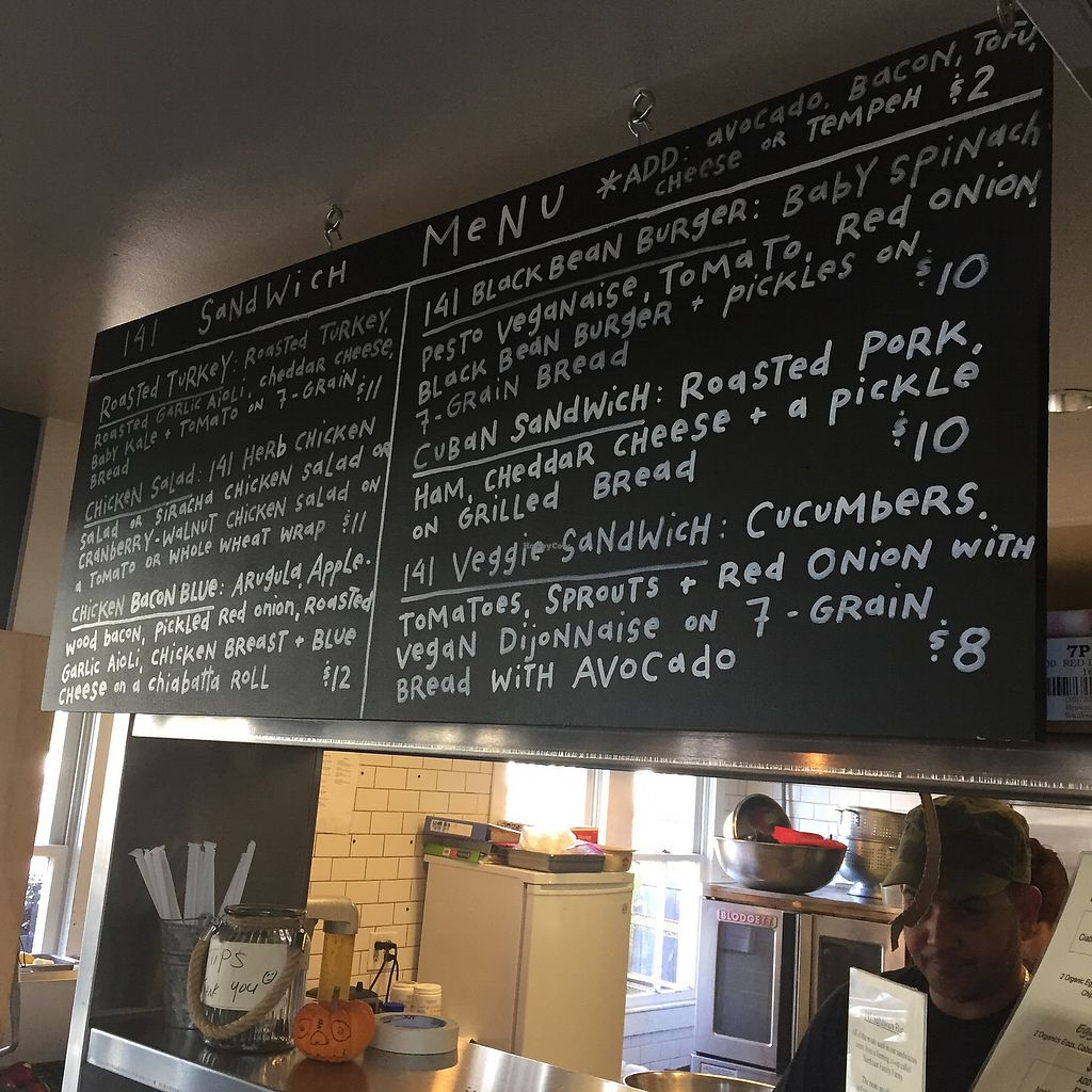 "Photo of 141 Bradford Natural Market  by <a href=""/members/profile/Sarah%20P"">Sarah P</a> <br/>Sandwich menu <br/> October 22, 2017  - <a href='/contact/abuse/image/11687/317500'>Report</a>"