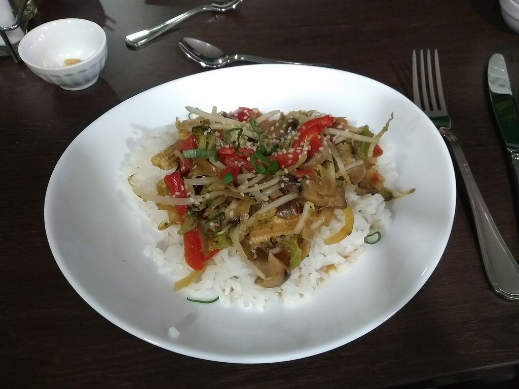 """Photo of Annie's Kitchen  by <a href=""""/members/profile/thenaturalfusions"""">thenaturalfusions</a> <br/>Stir fry veggies & white rice (12,90 euros...) <br/> April 8, 2018  - <a href='/contact/abuse/image/116895/382318'>Report</a>"""