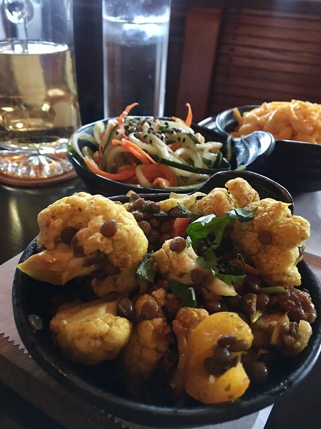 "Photo of Chappaqua Station  by <a href=""/members/profile/LilMsVegan"">LilMsVegan</a> <br/>Curried lentil cauliflower with the cucumber salad and Mac and cheese in the background <br/> April 13, 2018  - <a href='/contact/abuse/image/116897/384810'>Report</a>"