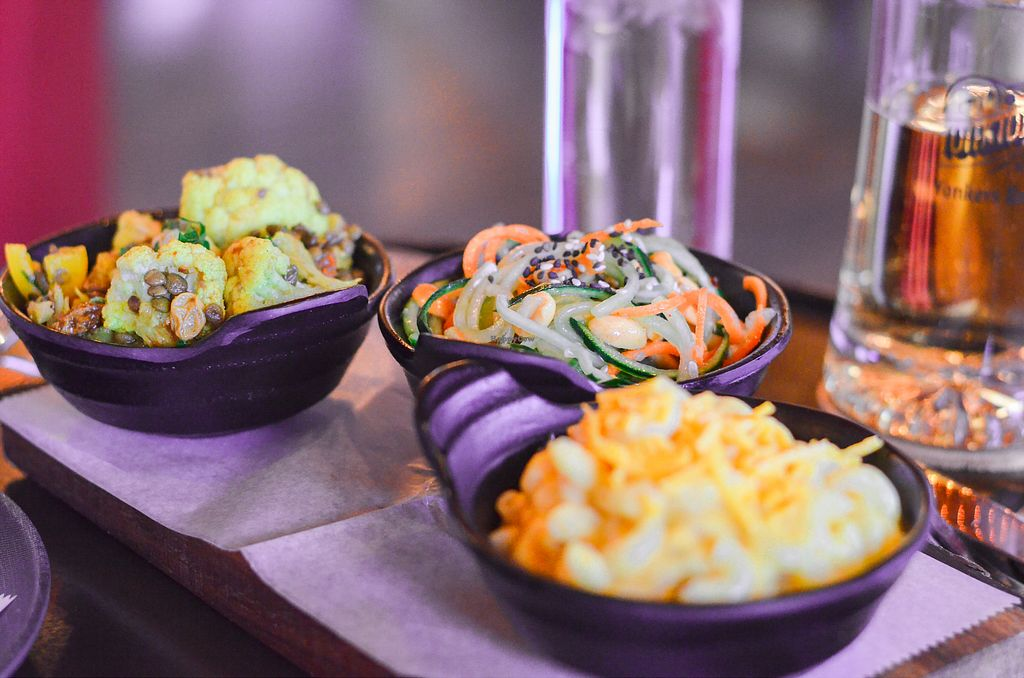"Photo of Chappaqua Station  by <a href=""/members/profile/BriggitteJ"">BriggitteJ</a> <br/>Sides of vegan Mac n' cheese, cucumber salad, curried cauliflower  <br/> April 13, 2018  - <a href='/contact/abuse/image/116897/384839'>Report</a>"