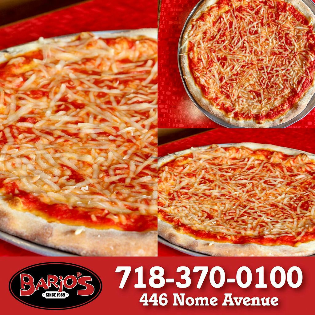 """Photo of Bario's Pizza  by <a href=""""/members/profile/MishPoli"""">MishPoli</a> <br/>Violife Vegan Cheese Pizza <br/> April 24, 2018  - <a href='/contact/abuse/image/116906/390323'>Report</a>"""