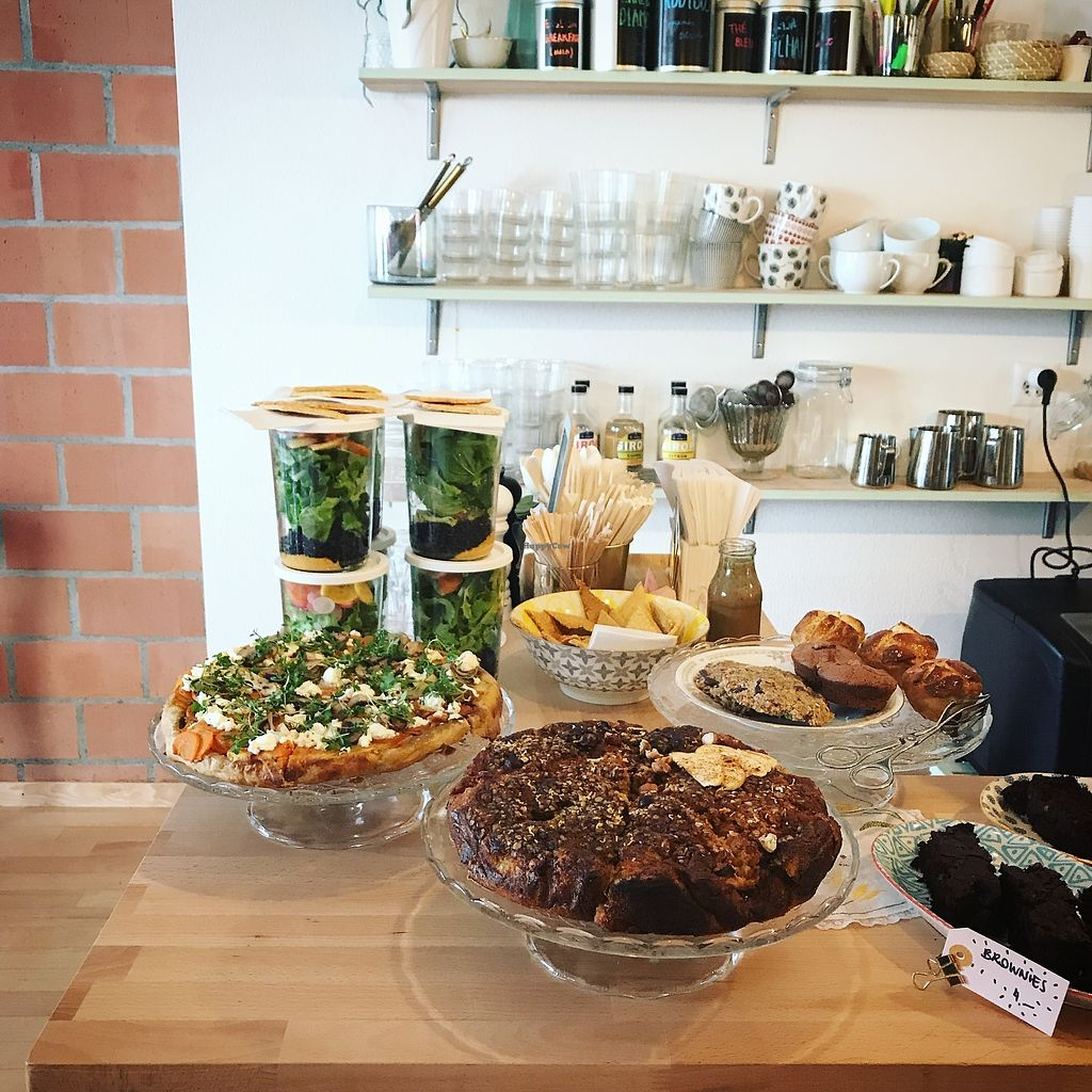 """Photo of L'Assise  by <a href=""""/members/profile/SarahKrebs"""">SarahKrebs</a> <br/>Salads & Pie <br/> April 7, 2018  - <a href='/contact/abuse/image/116918/381820'>Report</a>"""