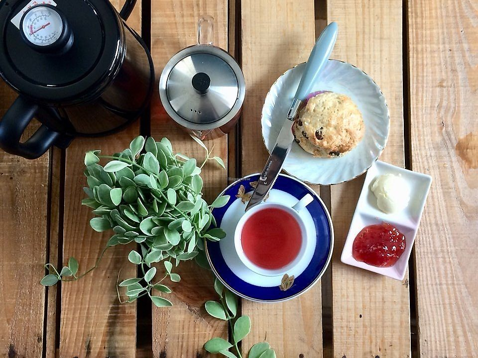 "Photo of And Yu Café  by <a href=""/members/profile/andyl"">andyl</a> <br/>Vegan scones and fair-trade organic tea <br/> April 12, 2018  - <a href='/contact/abuse/image/116942/384479'>Report</a>"